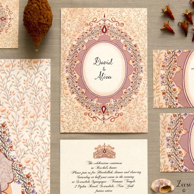 brocade invitations