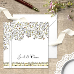 woven branches invitations