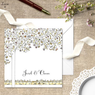 woven branches invitations