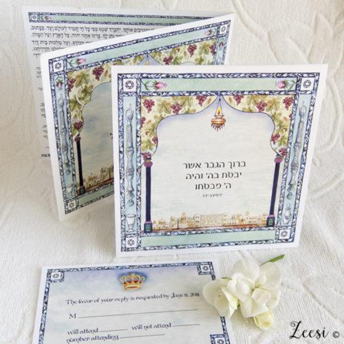 indigo window invitations and bencher