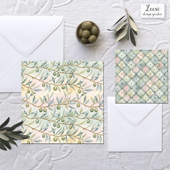 olive branches invitations
